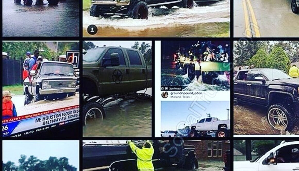 Hurricane Harvey Trucks