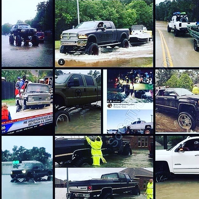Hurricane Harvey Trucks
