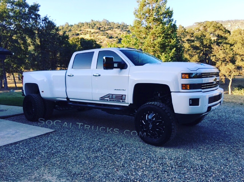 custom chevrolet 3500 4x4 duramax dually for sale lifted socal trucks. Black Bedroom Furniture Sets. Home Design Ideas