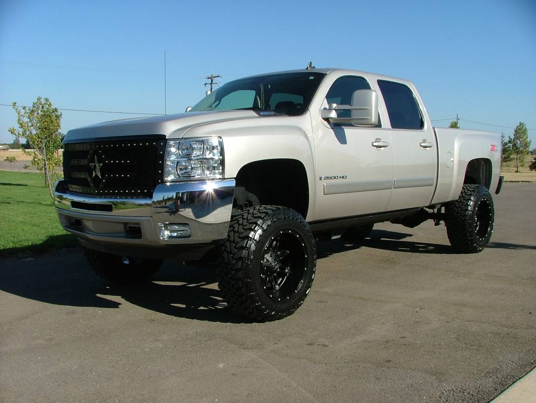 silver silverado lifted images - photo #32